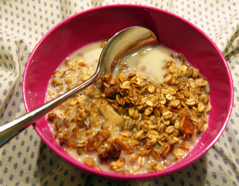 how to cook granola mix