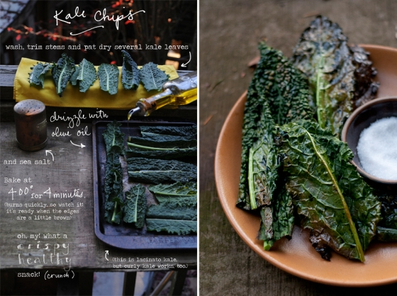 Oven Baked Kale Chips